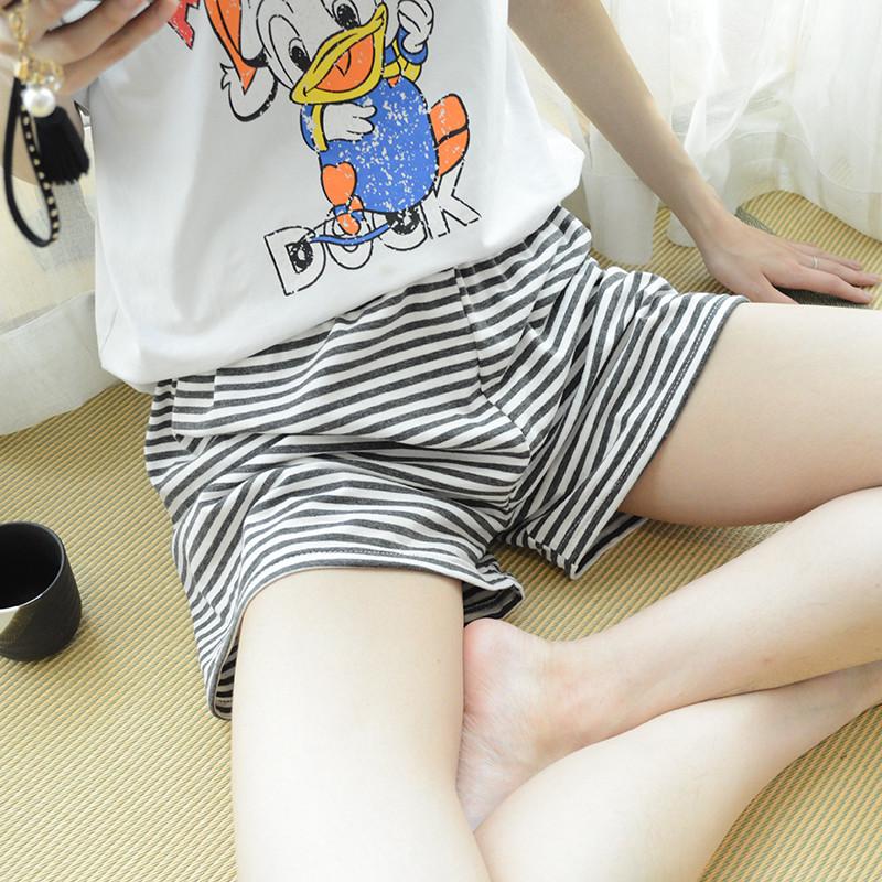 睡裤女士短裤夏季单件家居裤纯棉宽松薄款大码可外穿格子居家全棉