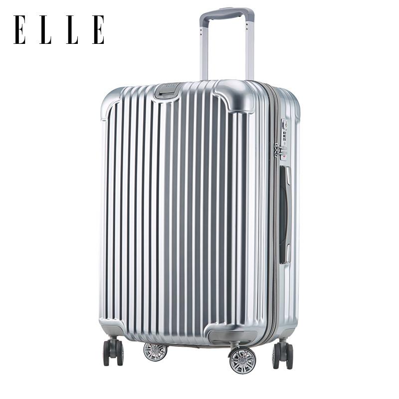 ELLE24寸旅行箱女小清新拉杆箱大学生万向轮行李箱20寸密码登机箱